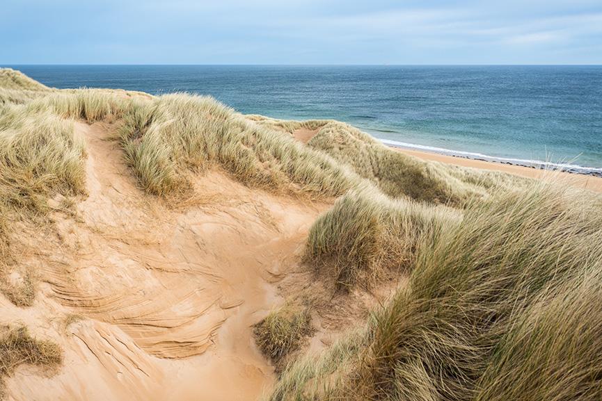 Sand dunes on a Scottish beach