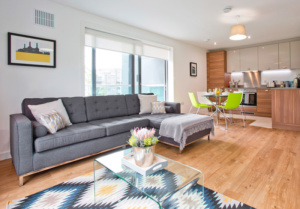 Living / Kitchen - rental flat in Dyce, Aberdeen - temporary accommodation